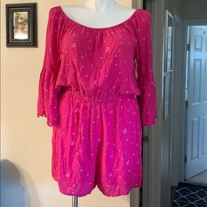 NWOT Romper over the shoulder from Mudd size XXL